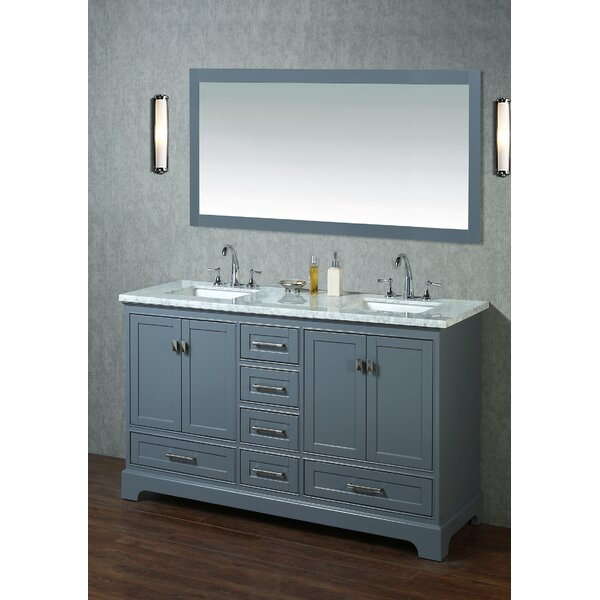 Stian 60 Double Sink Bathroom Vanity Set by Willa Arlo InteriorsStian 60 Double Sink Bathroom Vanity Set by Willa Arlo Interiors