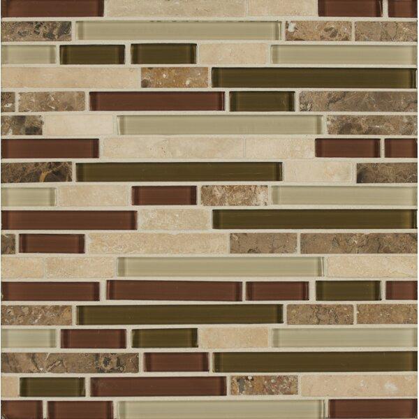 Carlisle 12 x 12 Stone Mosaic Linear Blend Tile in Cumbria by Grayson Martin