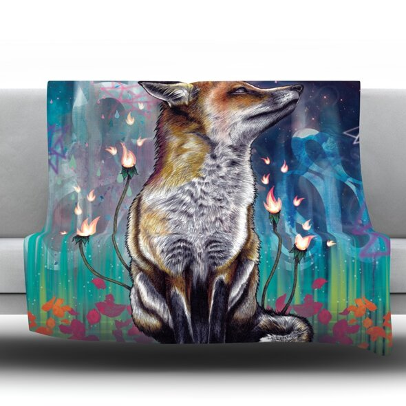 There Is A Light Throw Blanket by KESS InHouse
