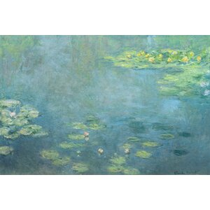 'Waterlilies' by Claude Monet Painting Print on Wrapped Canvas by August Grove