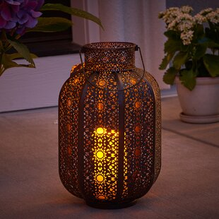 Read Reviews Cadiz Lantern with LED Candle By Smart Living