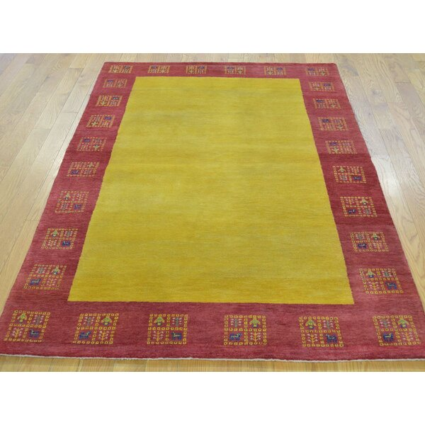 One-of-a-Kind Becker Lori Buft Hand-Knotted Yellow Wool Area Rug by Isabelline