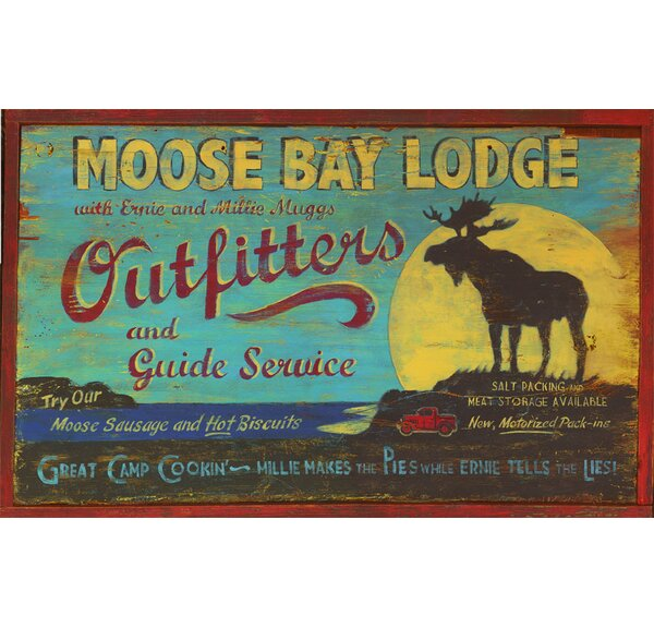 Moose Bay Vintage Advertisement Plaque by Millwood Pines