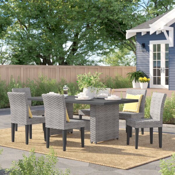 Kenwick Outdoor 7 Piece Patio Dining Set by Sol 72 Outdoor