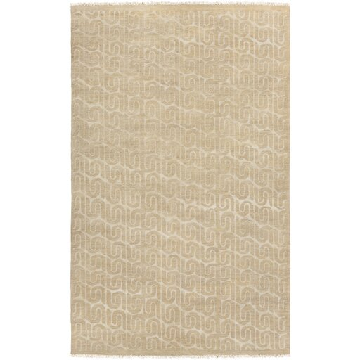 Vichy Hand Knotted Oyster Area Rug by DwellStudio