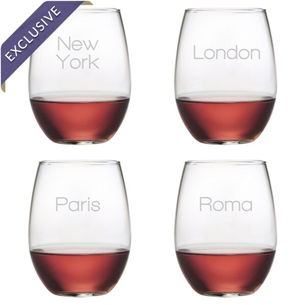 Jetsetter Stemless Wine Glass by Susquehanna Glass