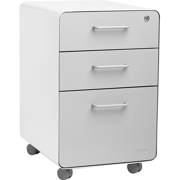 3-Drawer Mobile Vertical File Cabinet by Poppin
