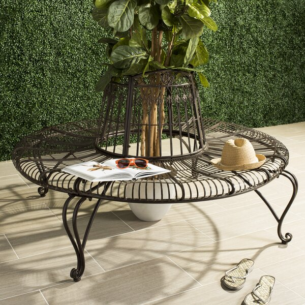 Bremen Iron Tree Bench by Fleur De Lis Living