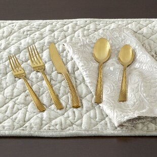 Burrell Hammered Flatware Set