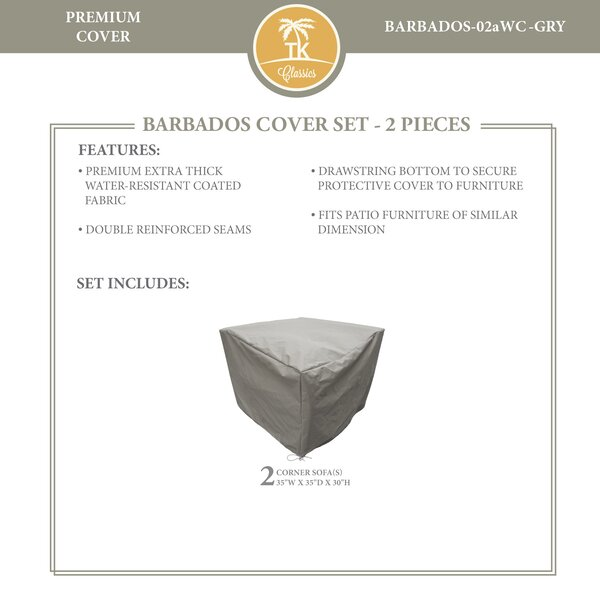 Barbados 4 Piece Water Resistant Patio Chair Cover Set by TK Classics