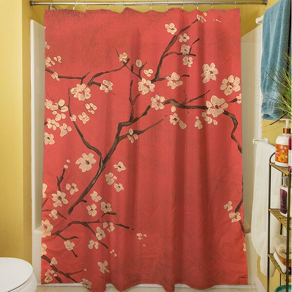 Golden Cherry Blossom Shower Curtain by Manual Woodworkers & Weavers