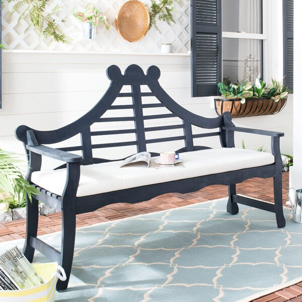 Cullins Solid Wood Garden Bench by Darby Home Co