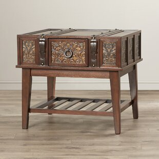 Andalusia End Table With Storage by World Menagerie