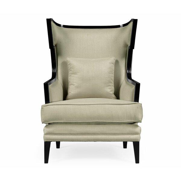 Windsor Biedermeier Greek Key Formal Occasional Wingback Chair by Jonathan Charles Fine Furniture