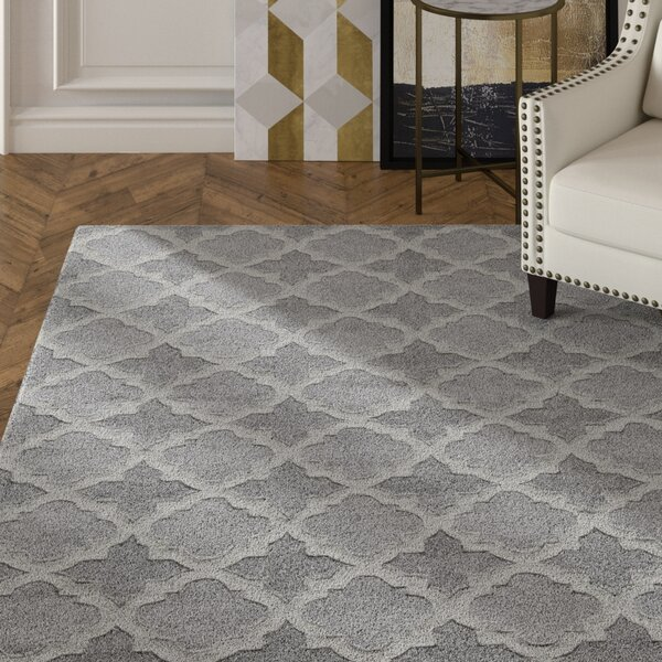 Edie Hand-Tufted Gray Area Rug by House of Hampton