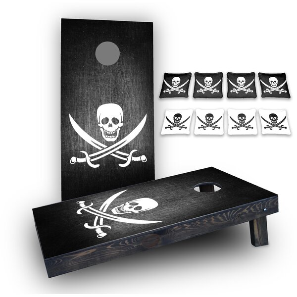 Pirate Custom 10 Piece Cornhole Board Set by Custom Cornhole Boards
