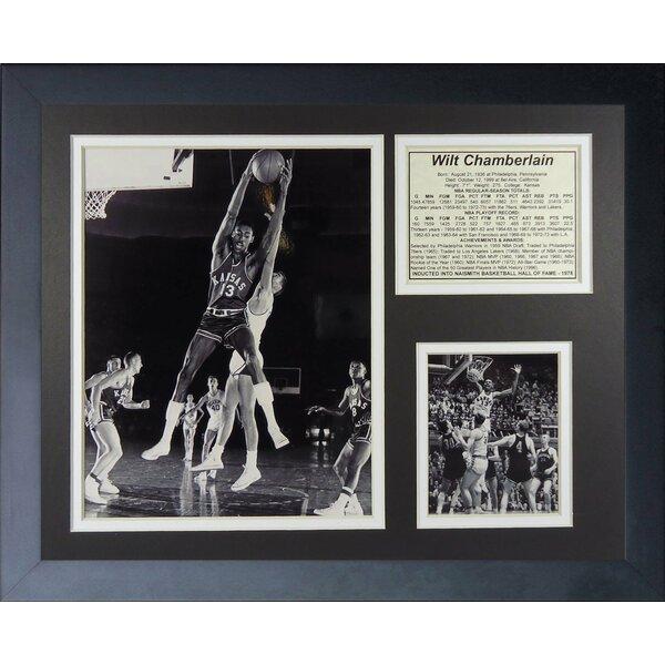 Wilt Chamberlain Kansas Jayhawks Framed Memorabilia by Legends Never Die