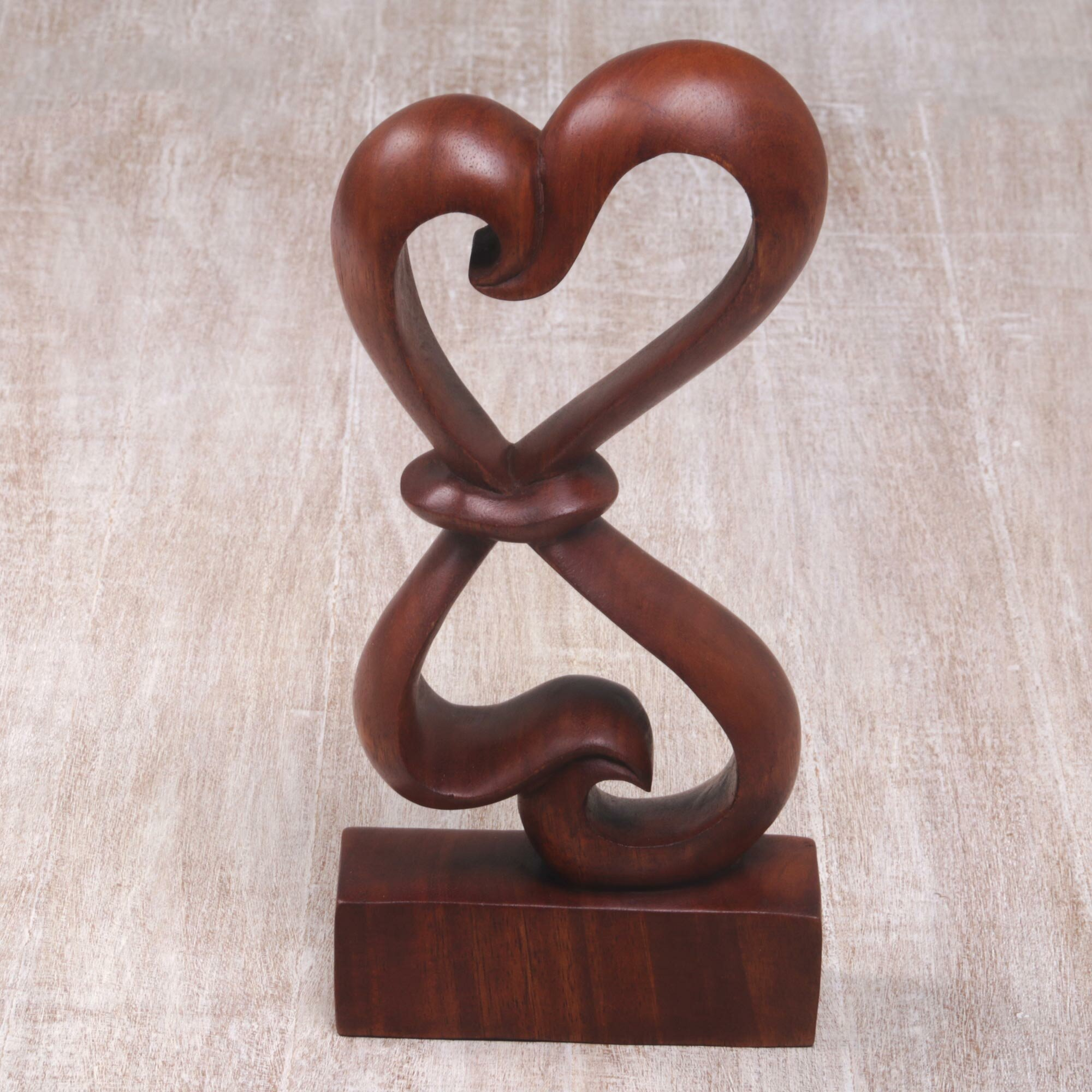 World Menagerie Congdon Heartfelt Wood Indonesia Sculpture Wayfair
