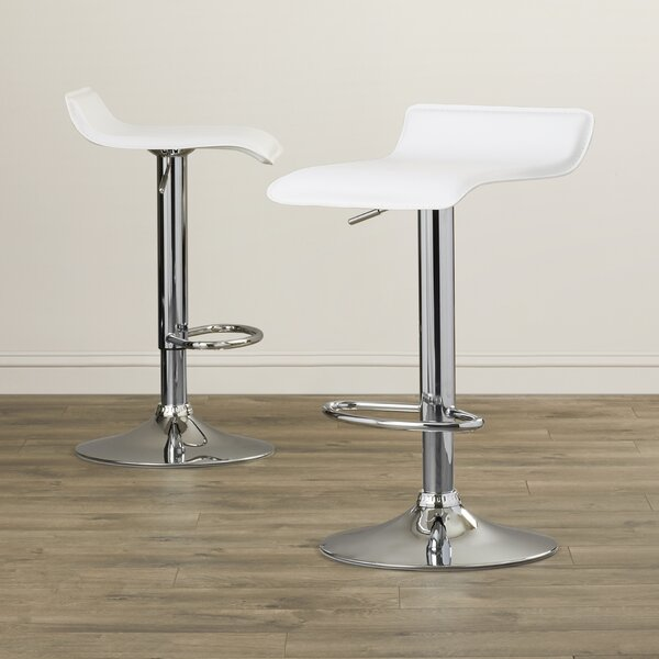 Zahara Adjustable Height Swivel Bar Stool (Set of 2) by Zipcode Design
