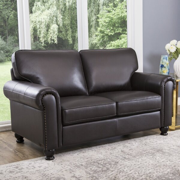 Coggins Leather Loveseat by Darby Home Co