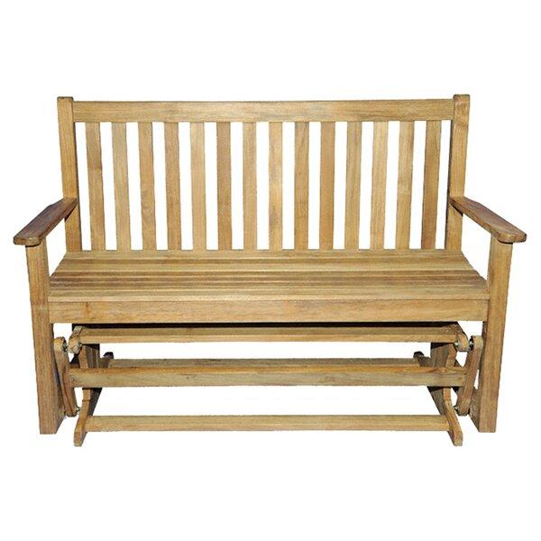 Teak Glider Garden Bench by Regal Teak