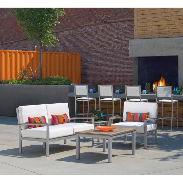 Caspian 4 Piece Sofa Seating Group with Cushions by Sol 72 Outdoor