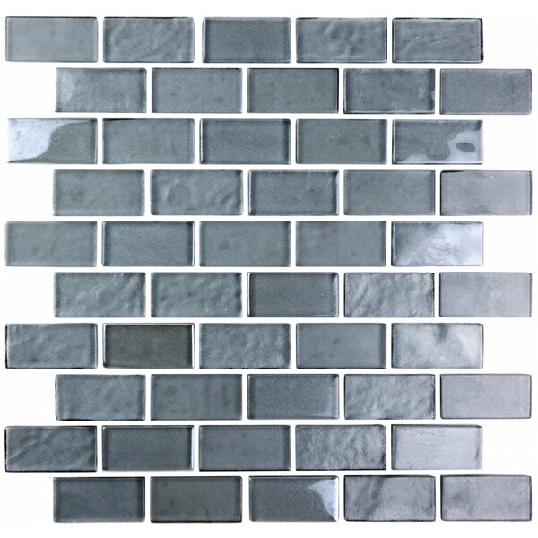 Landscape 1 x 2 Glass Mosaic Tile in Blue Gray by Abolos