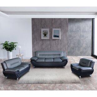 Macaire Faux Leather Living Room Set by Orren Ellis