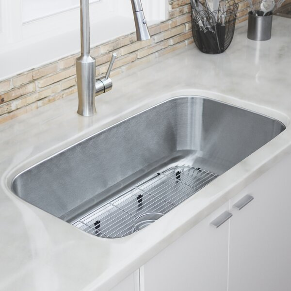 Haven Series 32 L x 18 W Undermount Kitchen Sink by Ticor Sinks