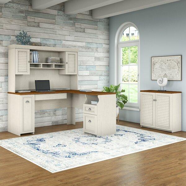 Oakridge 3 Piece L-shaped Desk Office Suite by Beachcrest Home