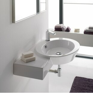 Inexpensive Wish Ceramic Oval Vessel Bathroom Sink with Overflow ByScarabeo by Nameeks