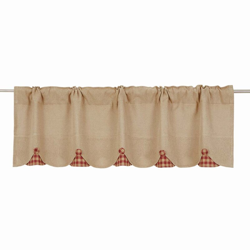 August Grove Addie Burlap Scalloped Curtain Valance