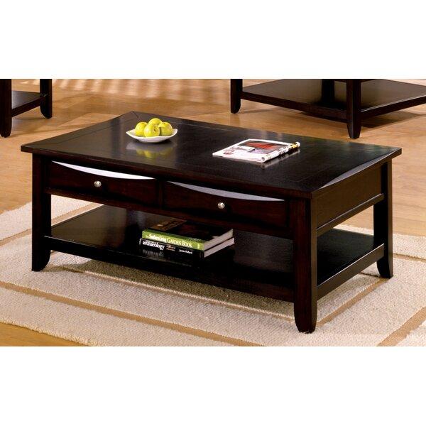 Geomar Rectangular Coffee Table With Storage