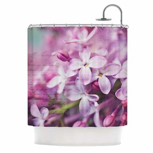 French Lilacs Photography Shower Curtain