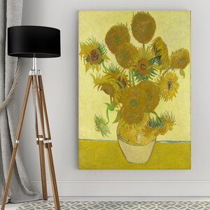 'Sun Flower' by Vincent Van Gogh Framed Painting Print by Wexford Home