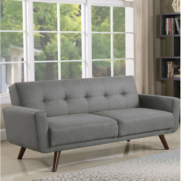 Best #1 Fortson Upholstered Tufted Sofa By George Oliver Read Reviews