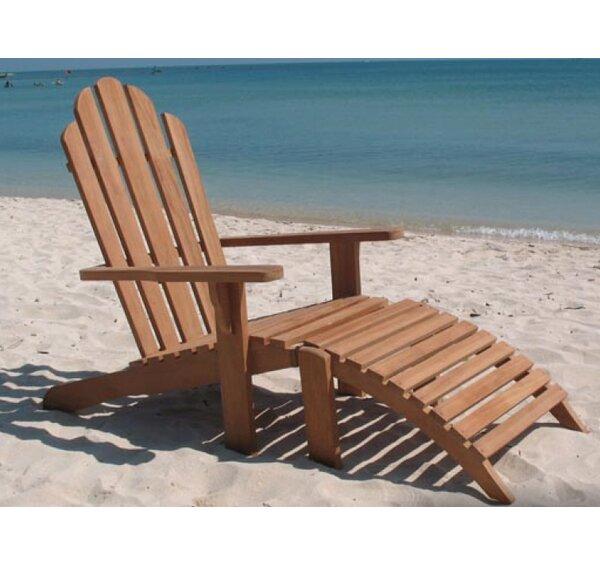 Gassett Teak Lightweight Adirondack Chair with Ottoman by Highland Dunes