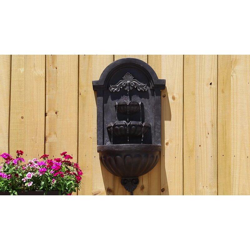 Fleur De Lis Living Danica Resin Wall Fountain with Light & Reviews ...