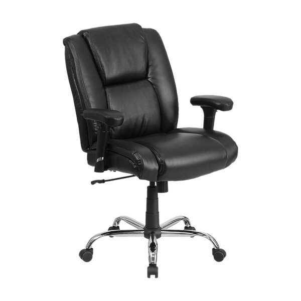 Ash High-Back Leather Executive Chair by Latitude Run