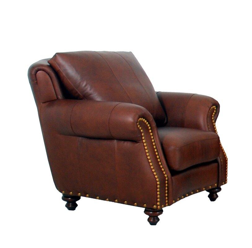 Randolph Genuine Top Grain Club Chair By Westland And