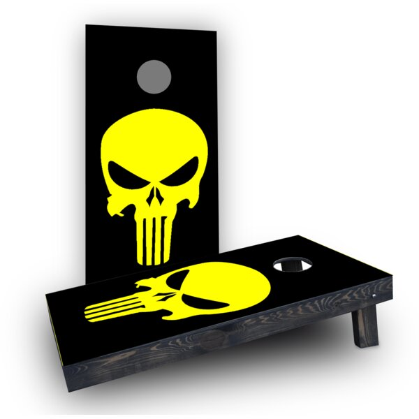 Punisher Skull (Any color) Cornhole Boards (Set of 2) by Custom Cornhole Boards
