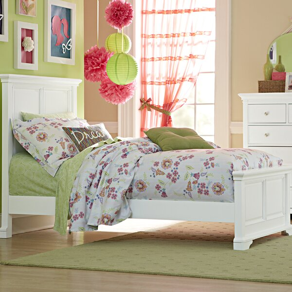 Ayalisse Traditional Solid Wood Panel Bed by Harriet Bee