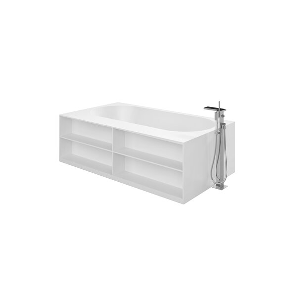 Storage Lovers 69.75 x 39.25 Freestanding Soaking Bathtub by Aquatica