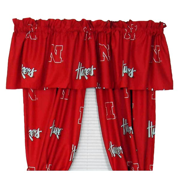 NCAA Nebraska Curtain Panels (Set of 2) by College Covers