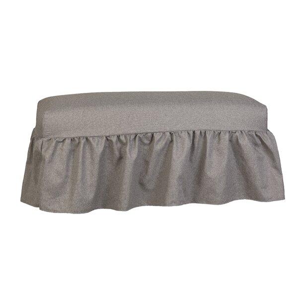 Copeland Gathered Slipcover Upholstered Bench by Alcott Hill