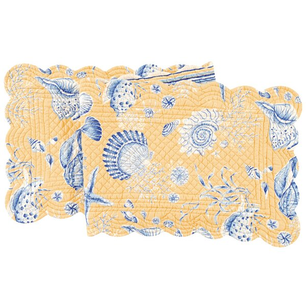 Seashells Quilted Scallop Table Runner by C&F Home