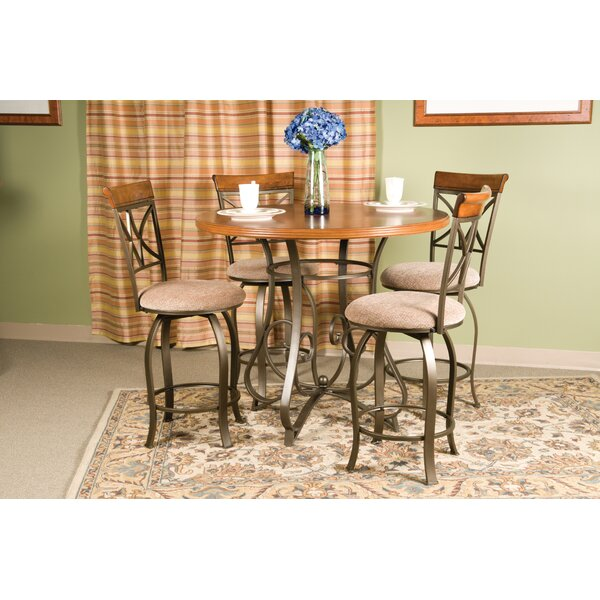 Coaling 5 Piece Counter Height Dining Set by Winston Porter