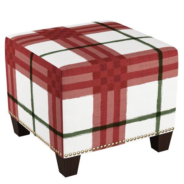 Rangel Cube Ottoman by August Grove