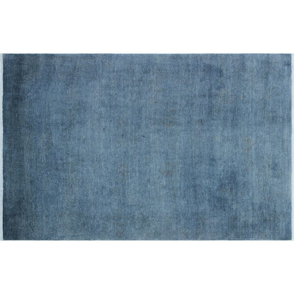 One-of-a-Kind Adair Overdyed Hand-Knotted Blue Area Rug by Darby Home Co