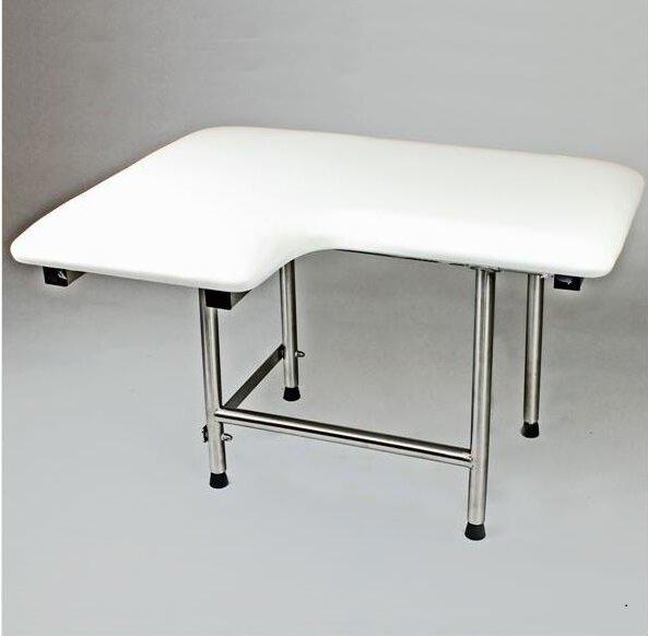 Right Hand Padded Shower Seat by CSI Bathware